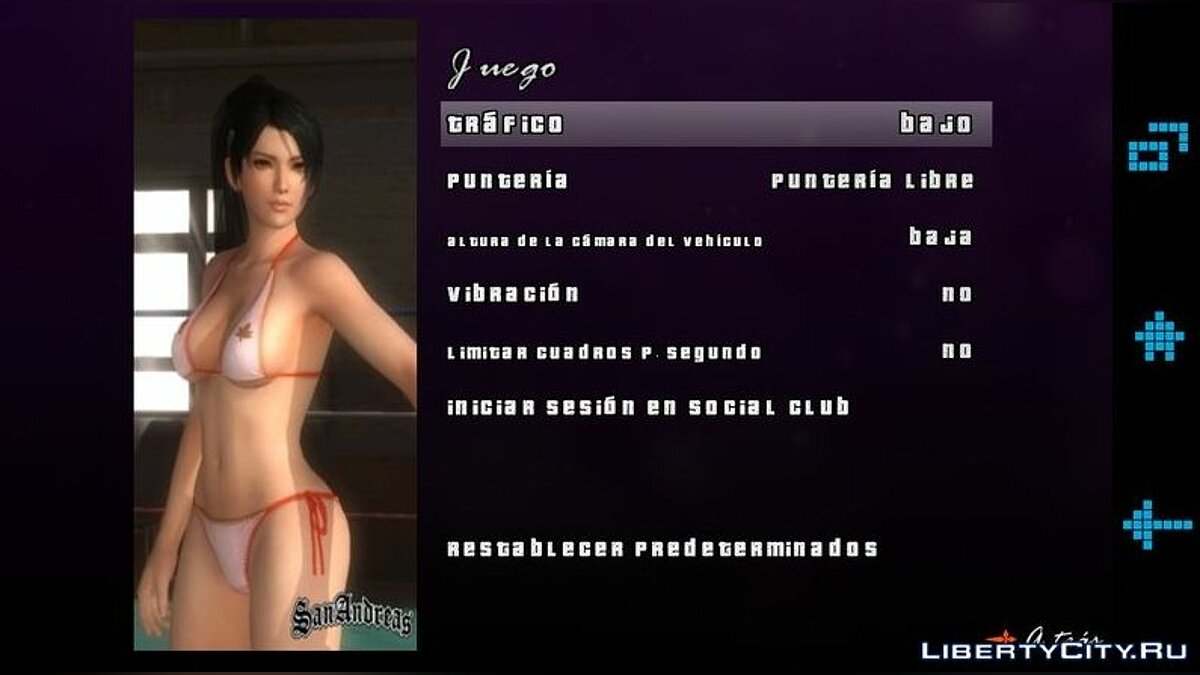 Mod Menu and boot screen in Momiji style HD for GTA San Andreas (iOS, Android)