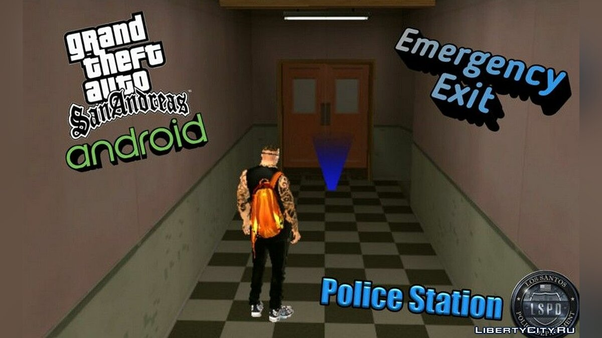 Mod Emergency exit at the police station for GTA San Andreas (iOS, Android)
