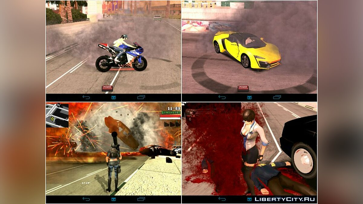 Mod Realistic effects for GTA San Andreas (iOS, Android)