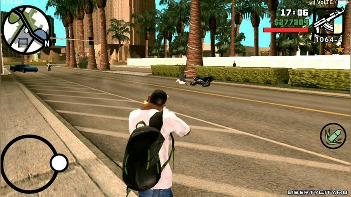 Mod Green backpack for GTA San Andreas (iOS, Android)