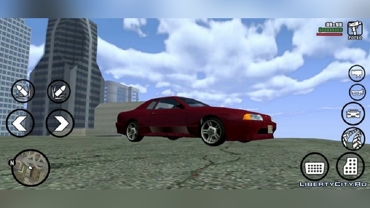 Mod Realistic clouds v2 for GTA San Andreas (iOS, Android)