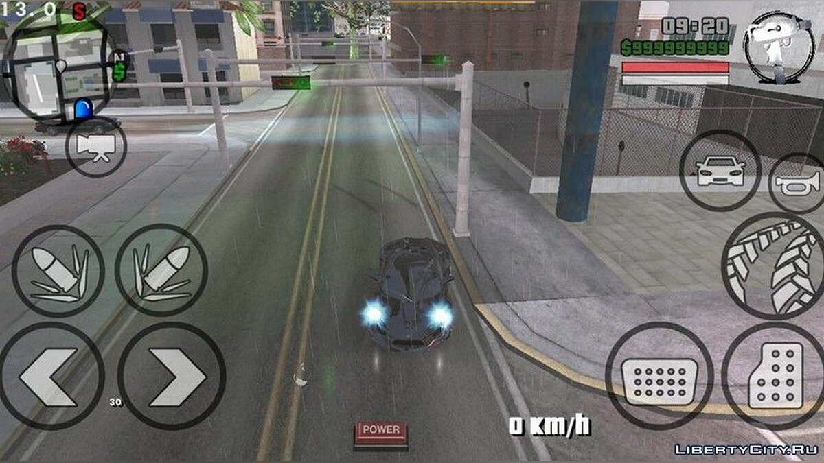 Mod Road reflections for GTA San Andreas (iOS, Android)
