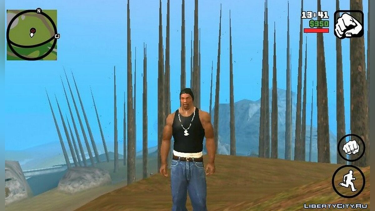 Vegetation OFF (v1.4b) - increasing FPS for GTA San Andreas (iOS, Android) - Картинка #1