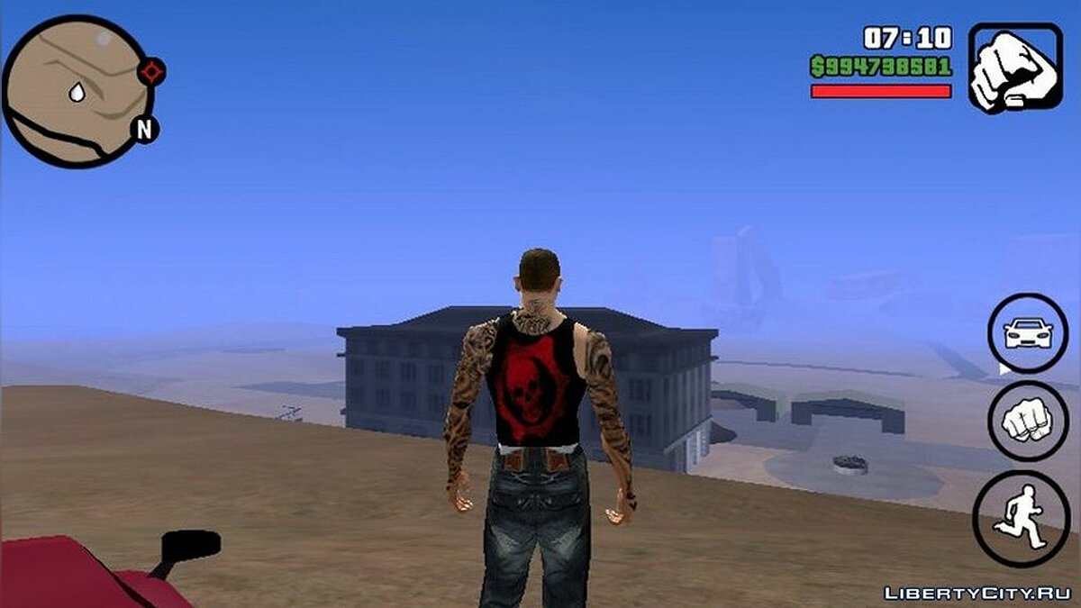 Tattoos White skin for CJ + tattoos for GTA San Andreas (iOS, Android)