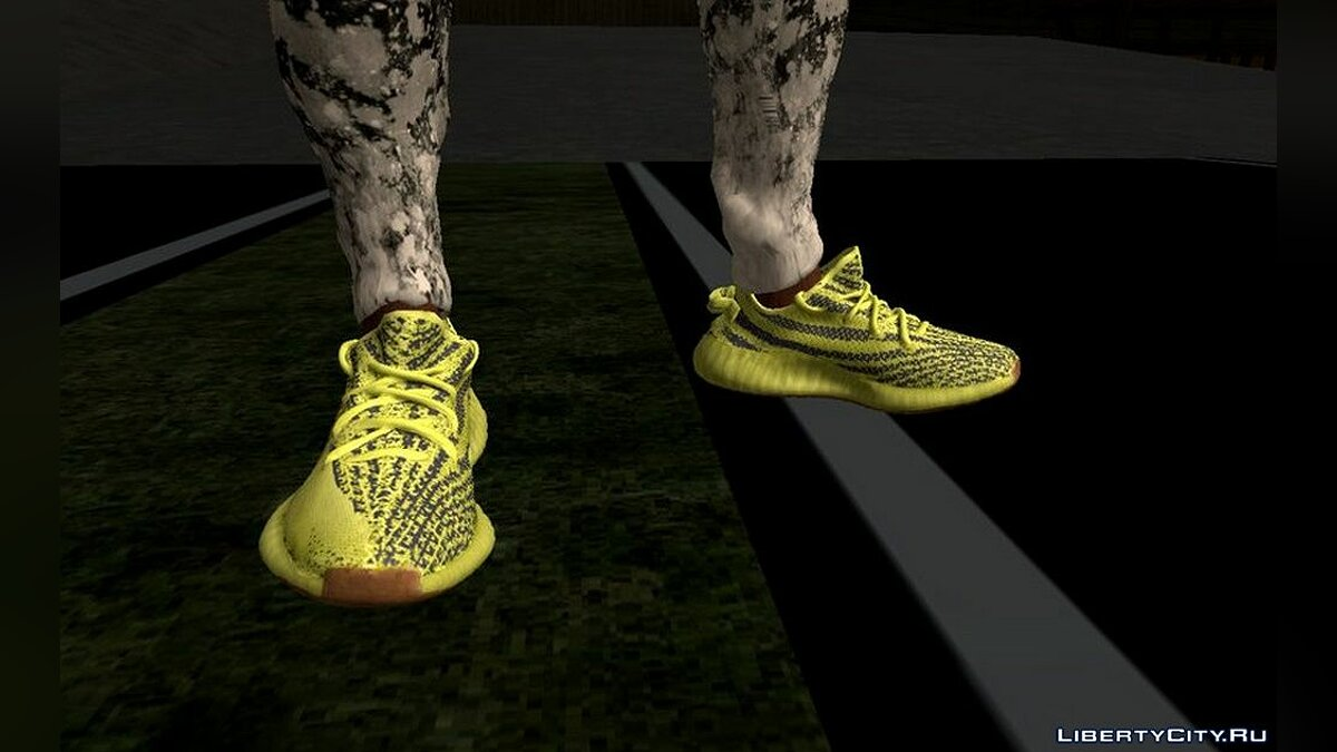 Pants and shorts Yeezy Boost 350 Sneakers for GTA San Andreas (iOS, Android)