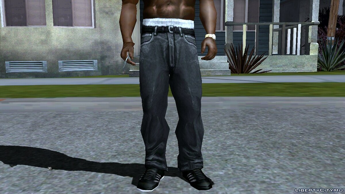 Pants and shorts Black jeans for GTA San Andreas (iOS, Android)