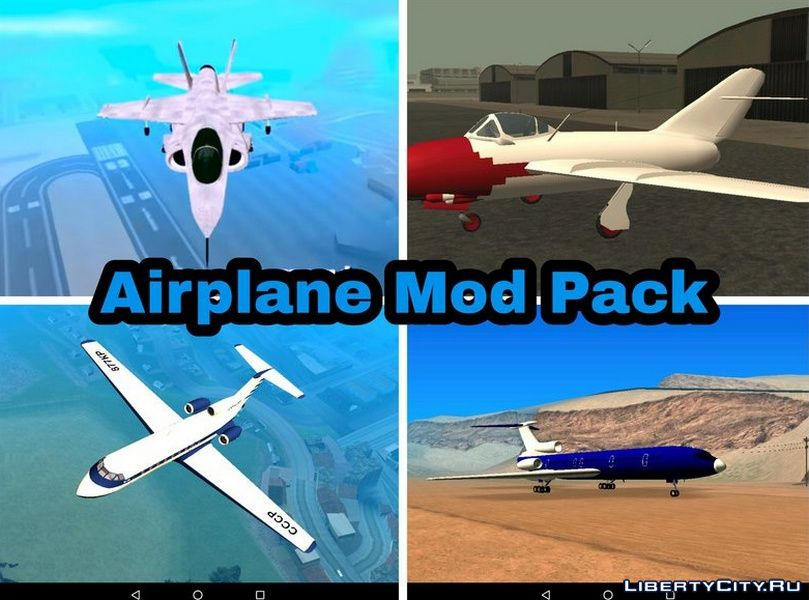 Aircraft collection for GTA San Andreas (iOS, Android)