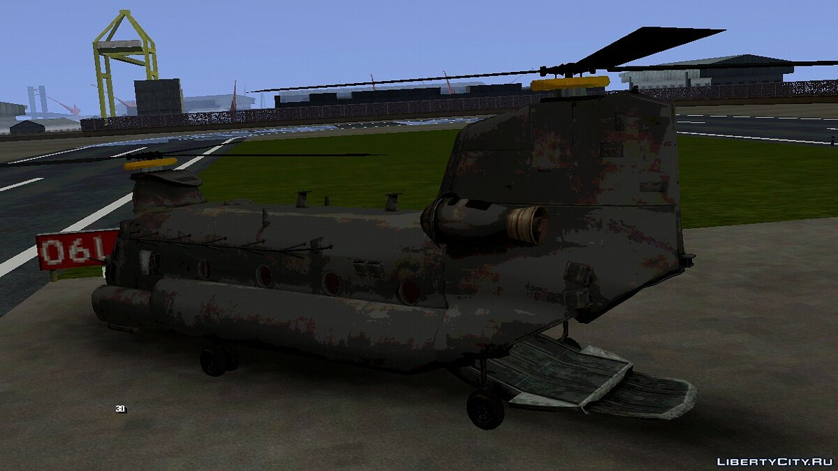 Planes and helicopters MH47 Chinook from Medal of Honor 2010 for GTA San Andreas (iOS, Android)