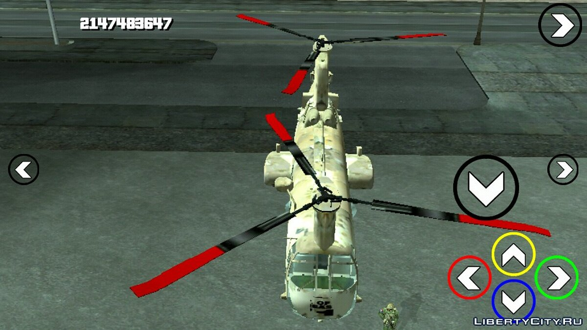 Planes and helicopters Leviathn (DFF only) for GTA San Andreas (iOS, Android)
