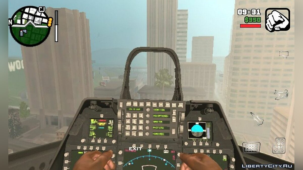 Planes and helicopters F-22 Raptor Modify for GTA San Andreas (iOS, Android)