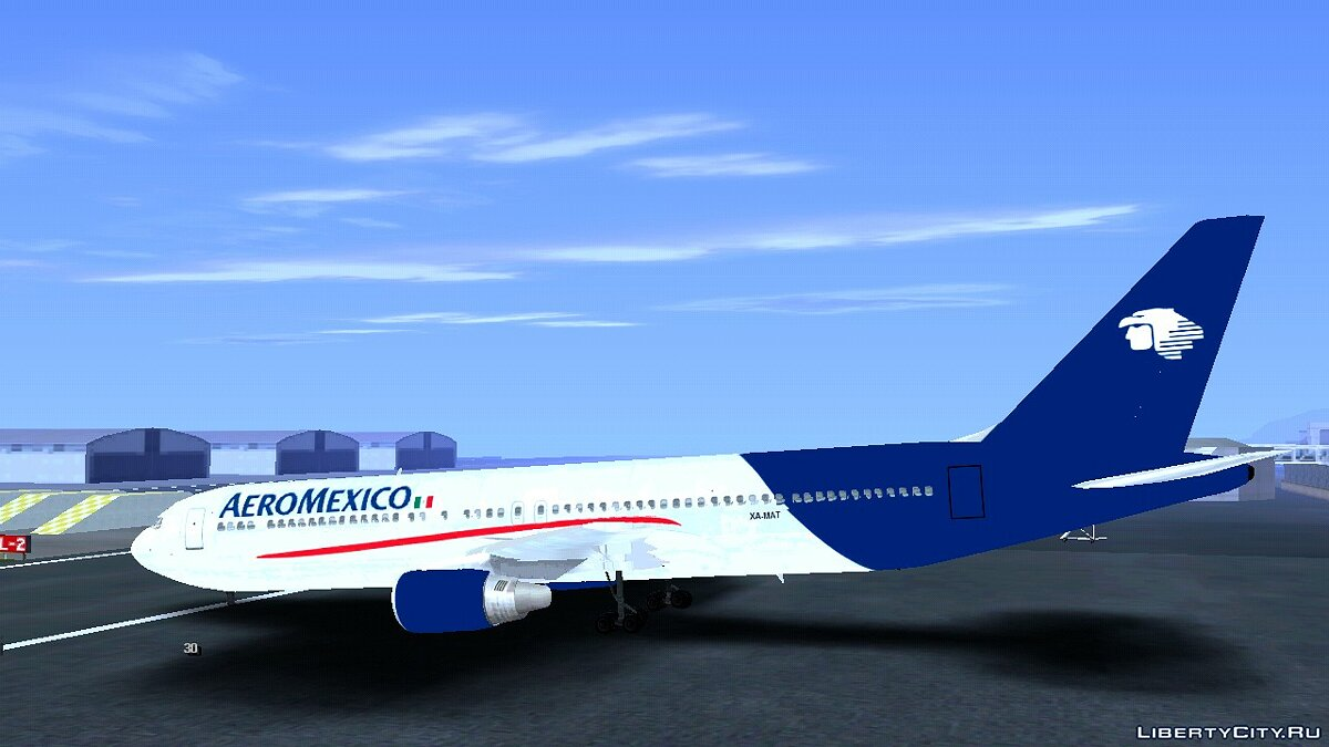 Planes and helicopters Boeing 767-300 Aeromexico for GTA San Andreas (iOS, Android)