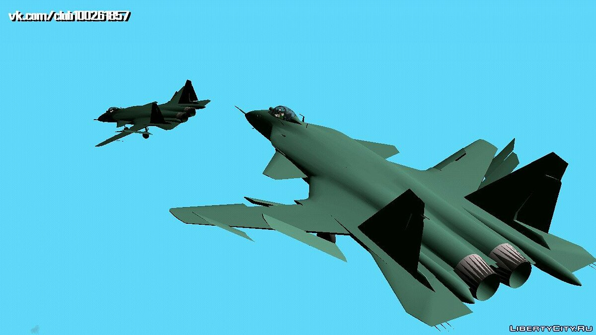 Planes and helicopters SU-47 BERKUT (DFF only) for GTA San Andreas (iOS, Android)