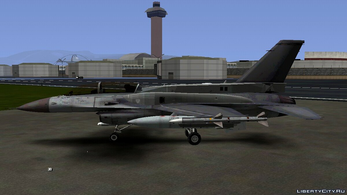 Planes and helicopters F-16D Block 60 for GTA San Andreas (iOS, Android)