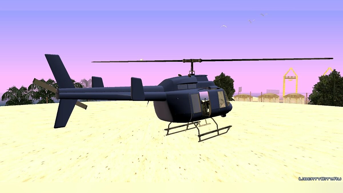 Planes and helicopters GTA 5 Maverick (dff only) for GTA San Andreas (iOS, Android)