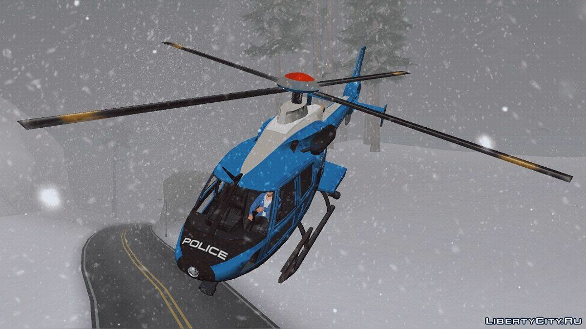 Planes and helicopters Police helicopter for GTA San Andreas (iOS, Android)