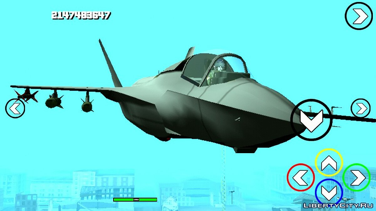 Planes and helicopters F-35 hydra (DFF only) for GTA San Andreas (iOS, Android)