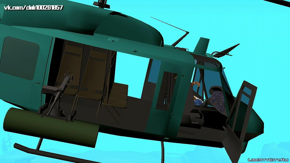 Planes and helicopters Bell UH-1N Twin Huey (DFF only) for GTA San Andreas (iOS, Android)
