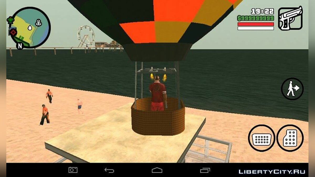Hot Air Balloon Mod for GTA San Andreas (iOS, Android) - screenshot #2