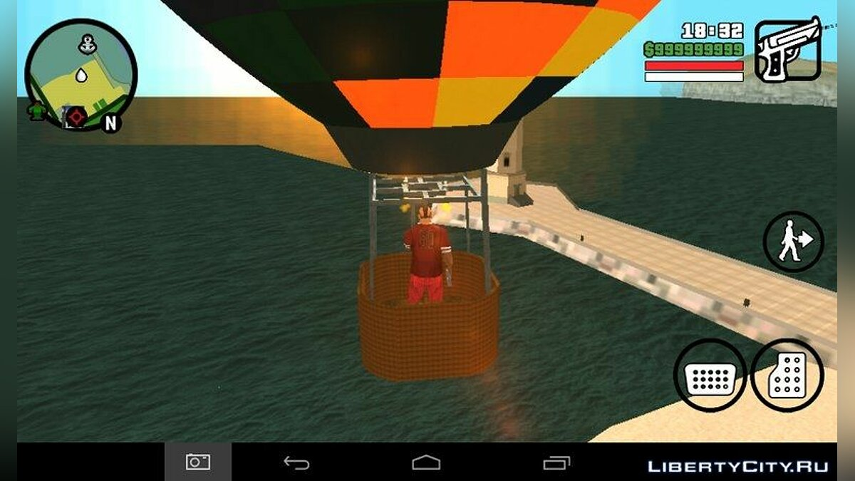 Hot Air Balloon Mod for GTA San Andreas (iOS, Android) - screenshot #4