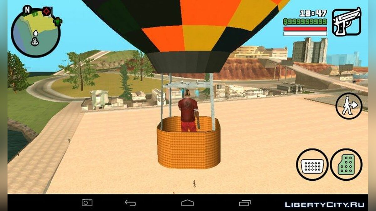 Hot Air Balloon Mod for GTA San Andreas (iOS, Android)