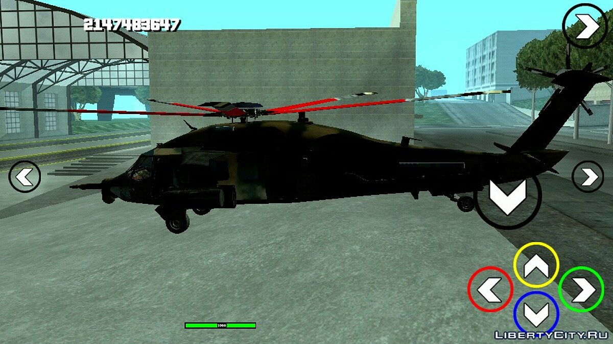 Planes and helicopters Black Hawk Raindanc (DFF only) for GTA San Andreas (iOS, Android)