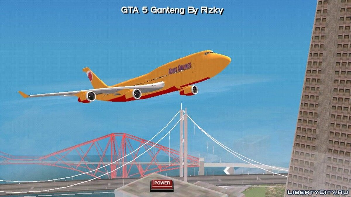 Planes and helicopters Boeing airplane with Adios Airline coloring for GTA San Andreas (iOS, Android)