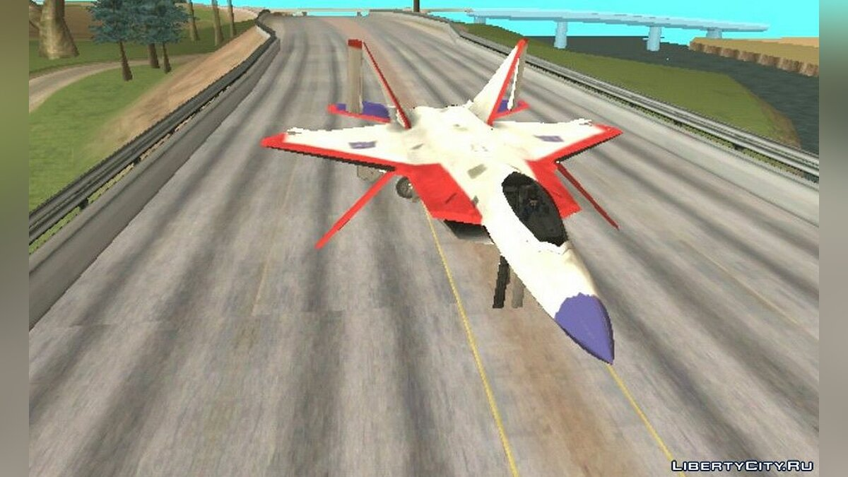 Planes and helicopters F-22 Old Starscream for GTA San Andreas (iOS, Android)