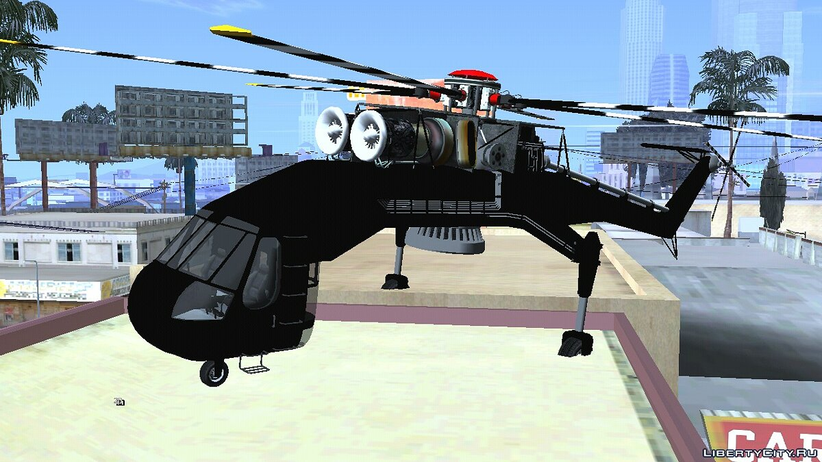 Planes and helicopters HVY Skylift from GTA 5 for GTA San Andreas (iOS, Android)