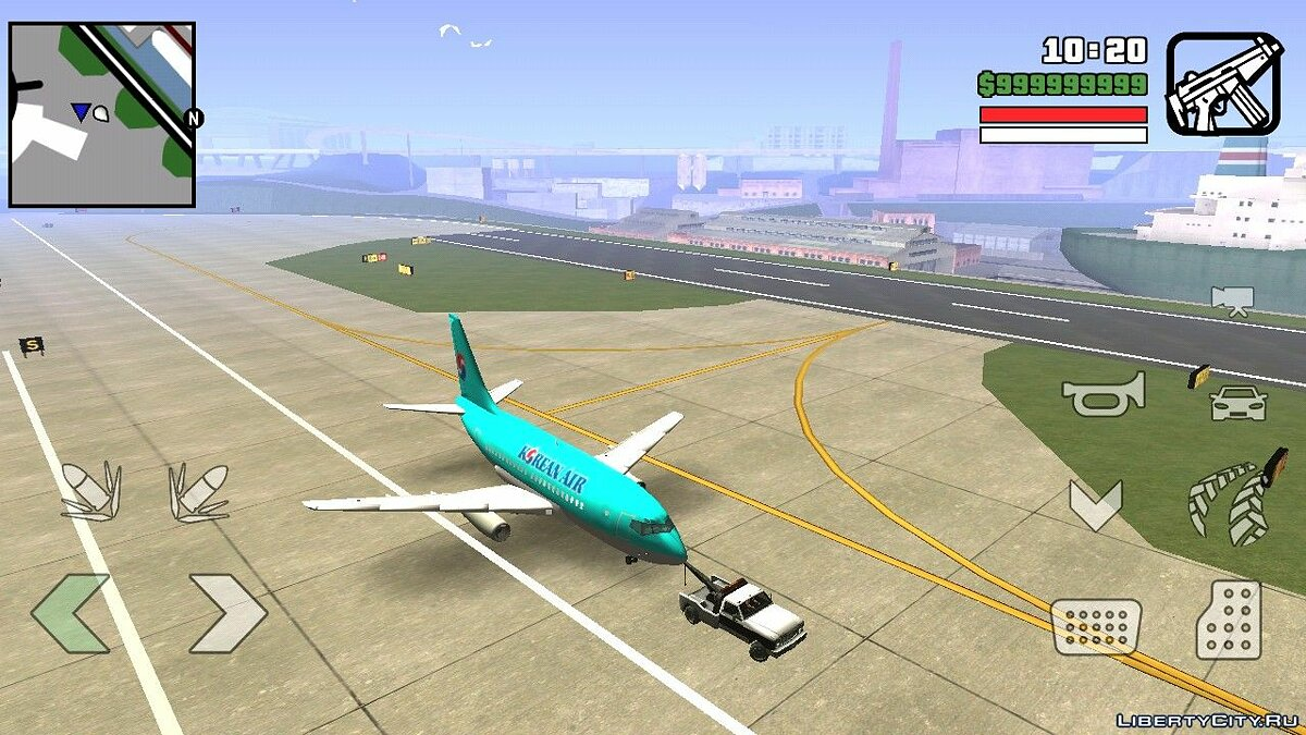 Planes and helicopters Korean Airlines Boeing for GTA San Andreas (iOS, Android)
