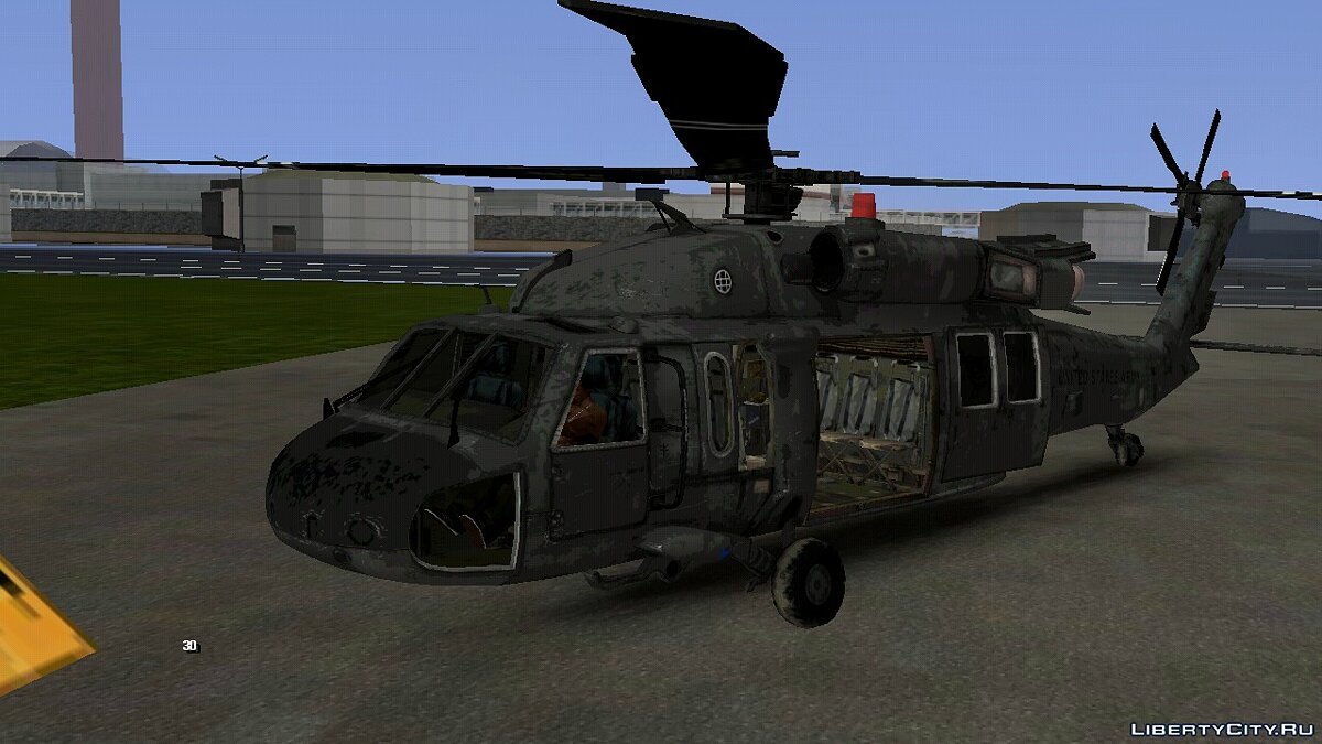 Planes and helicopters UH-60 for GTA San Andreas (iOS, Android)