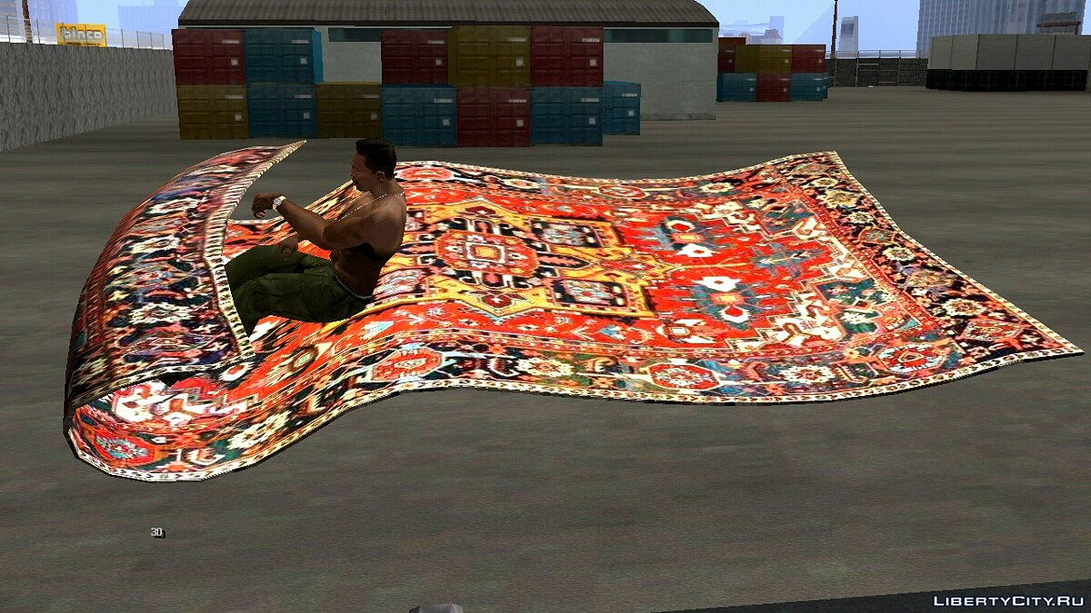 Planes and helicopters Magic carpet for GTA San Andreas (iOS, Android)