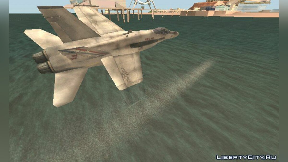 Planes and helicopters F-18 Hornet for GTA San Andreas (iOS, Android)