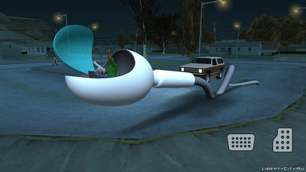 Planes and helicopters Sperm (DFF only) for GTA San Andreas (iOS, Android)