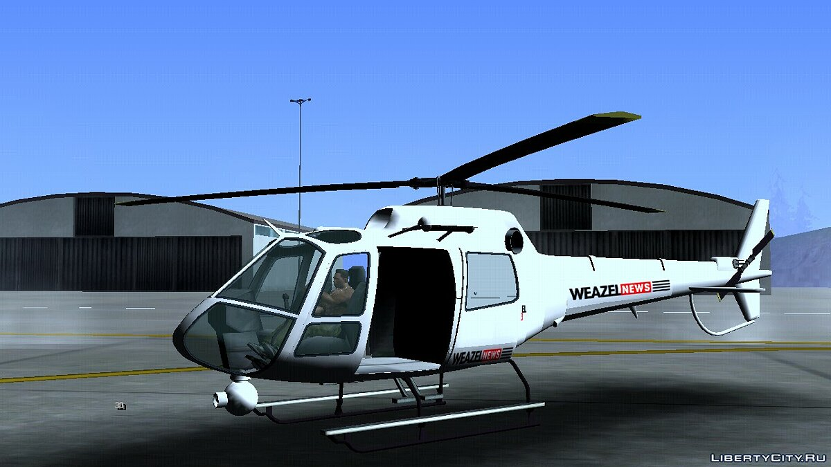 Planes and helicopters Helicopter news (Weazel News) for GTA San Andreas (iOS, Android)