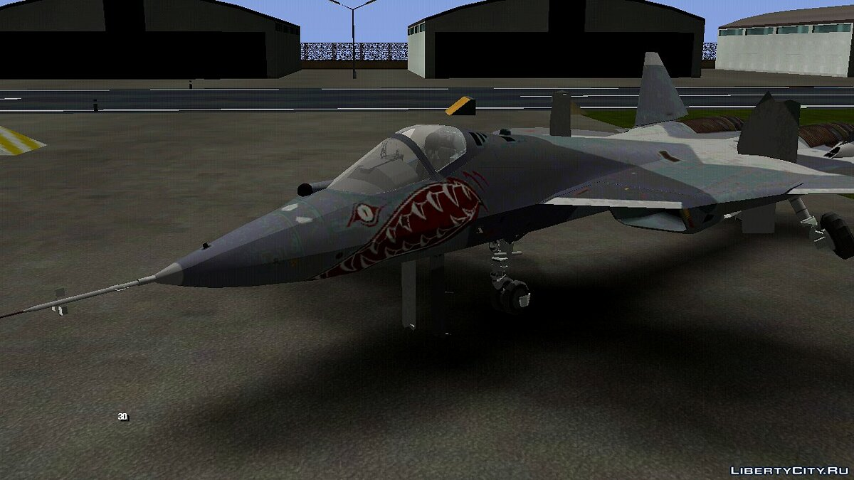 Planes and helicopters Sukhoi T-50 for GTA San Andreas (iOS, Android)
