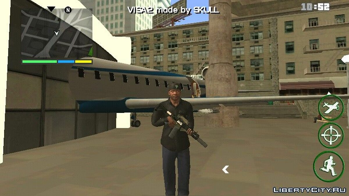 Planes and helicopters Blue Ghawar from GTA 4 for GTA San Andreas (iOS, Android)