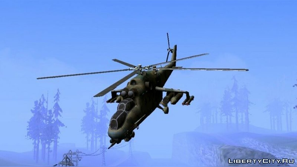 Planes and helicopters Mil-Mi 24D Hind from COD Series for GTA San Andreas (iOS, Android)