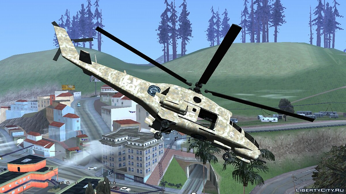 Planes and helicopters GTA 5 Savage (DFF only) for GTA San Andreas (iOS, Android)