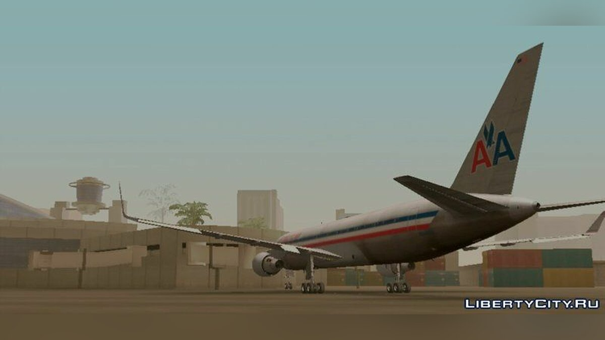 Planes and helicopters B767 American Airlines for GTA San Andreas (iOS, Android)