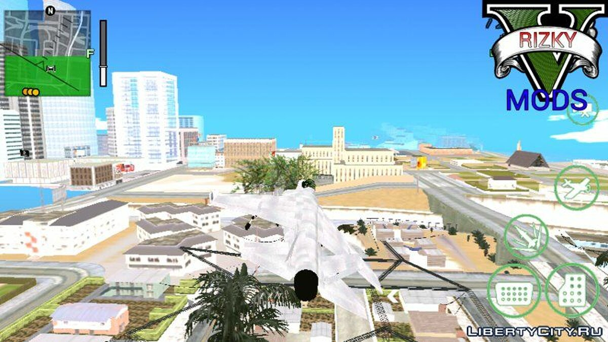 Planes and helicopters Hydra from GTA 5 for GTA San Andreas (iOS, Android)