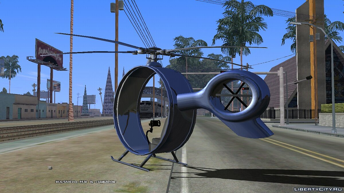 Planes and helicopters Helicopter Futuristic (DFF only) for GTA San Andreas (iOS, Android)