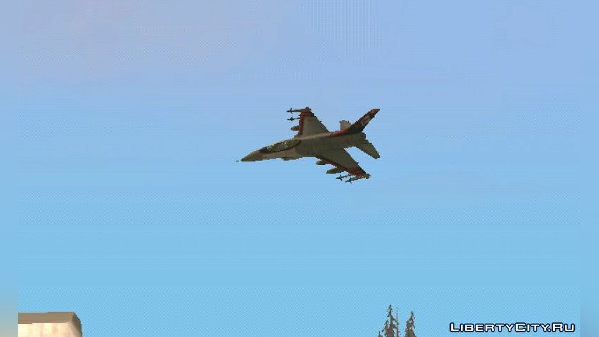 Planes and helicopters F 16 Fighter Squadron for GTA San Andreas (iOS, Android)