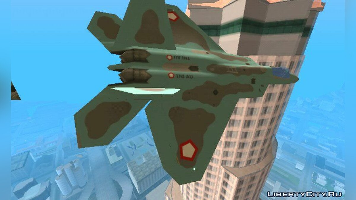 Planes and helicopters F-22 Raptor TNI AU / Air Force Indonesia for GTA San Andreas (iOS, Android)