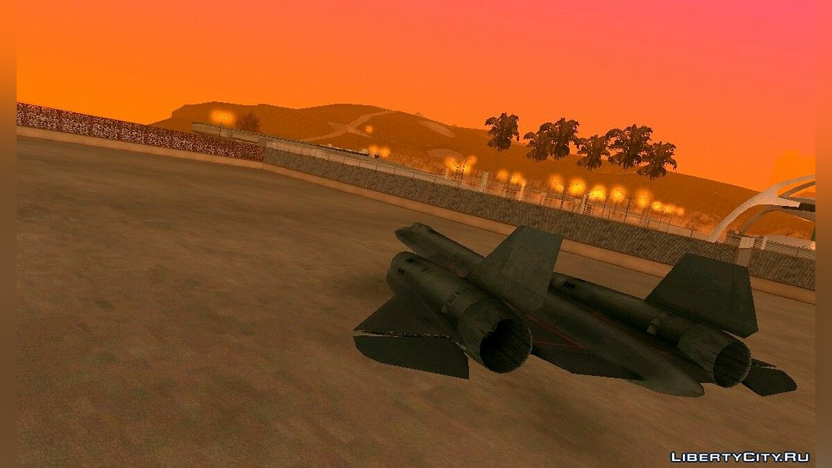 Planes and helicopters SR71 Blackbird for GTA San Andreas (iOS, Android)