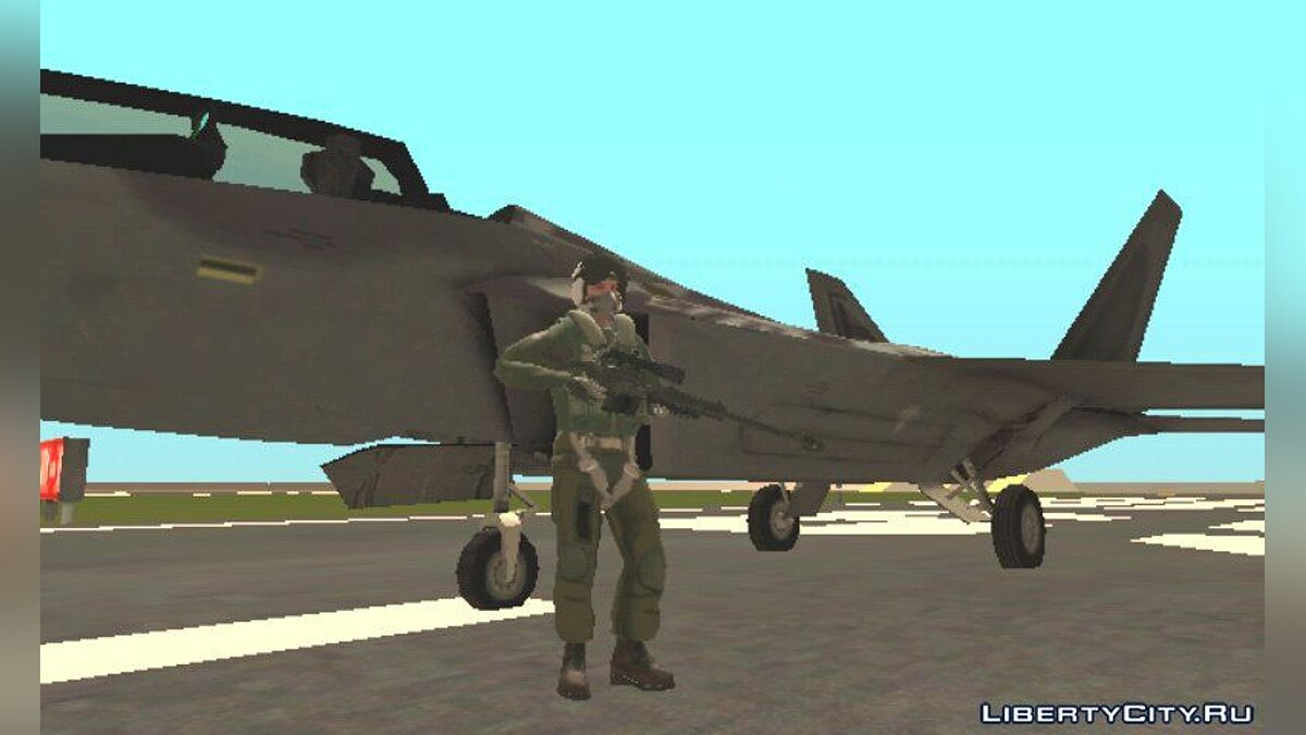 Planes and helicopters F-22 Raptor Starscream Decepticon for GTA San Andreas (iOS, Android)