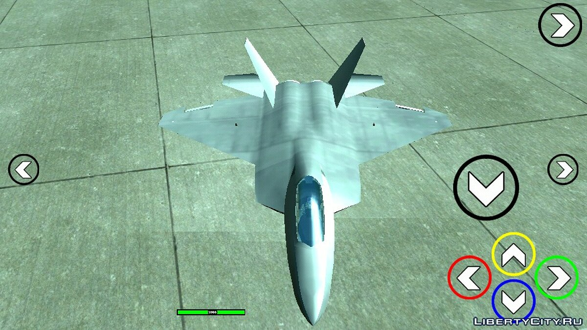 Planes and helicopters F-22 Hydra (DFF only) for GTA San Andreas (iOS, Android)