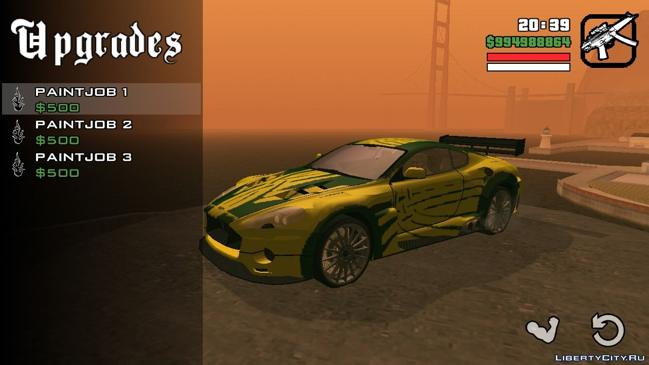 Ronnie S Aston Martin Db9 From Nfs Mw For Gta San Andreas Ios Android