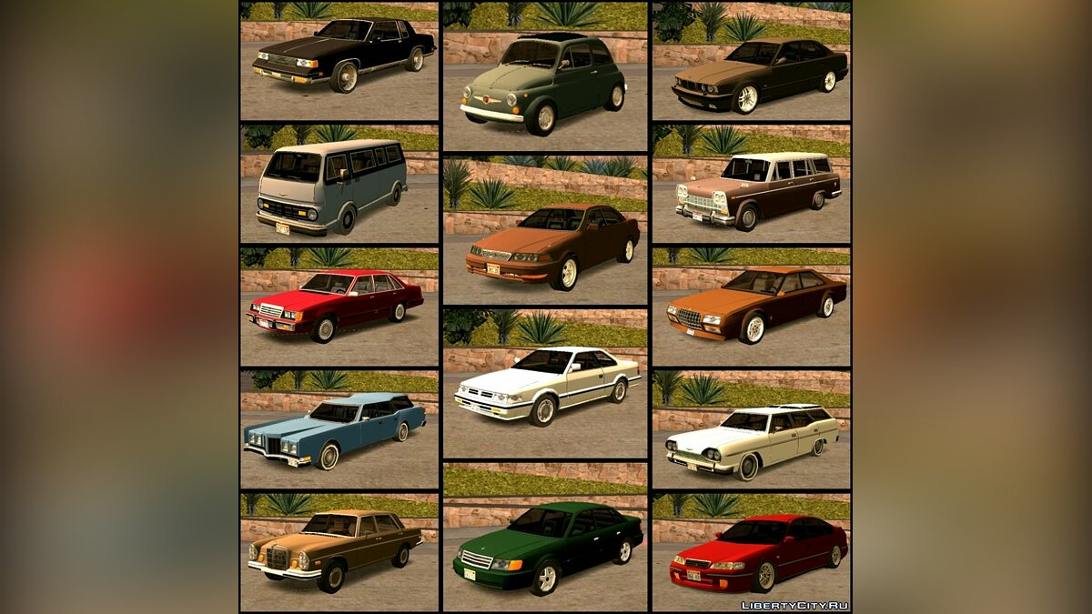 Car Aesthetic Low Poly Cars Pack for Mobile for GTA San Andreas (iOS, Android)