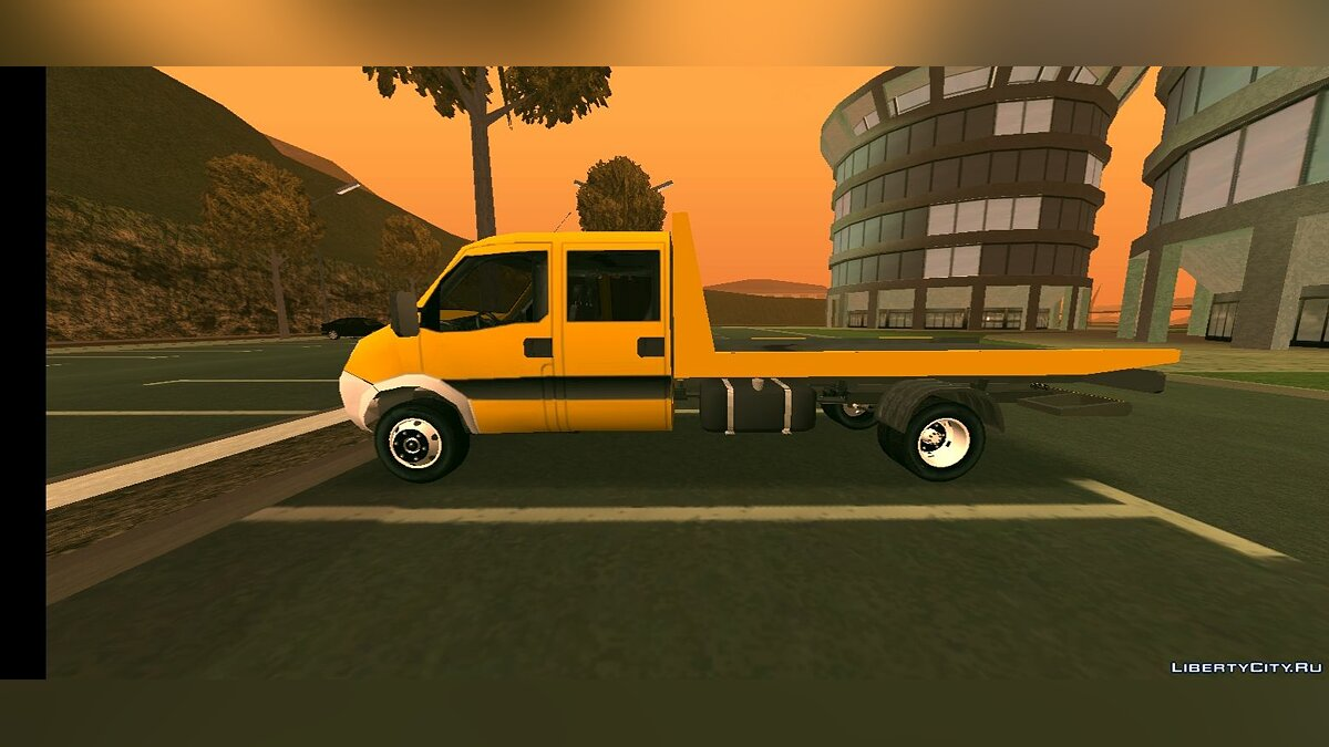 Car Iveco Daily Mk4 Flatbed Tow for GTA San Andreas (iOS, Android)