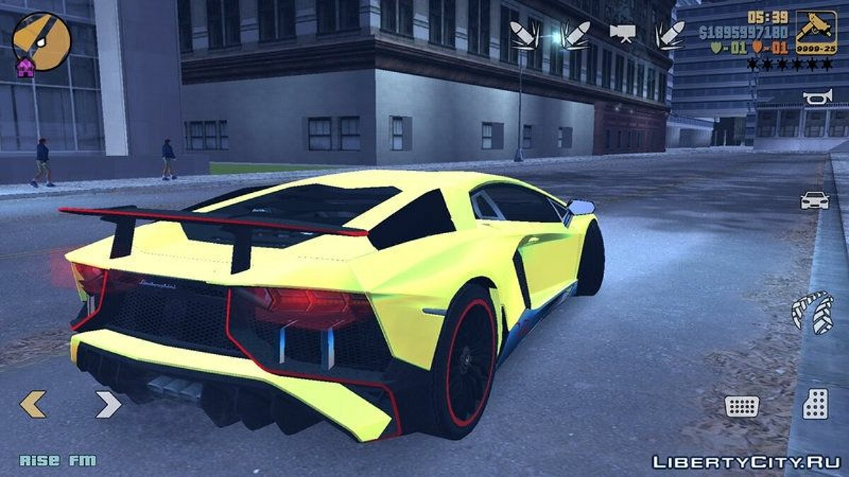 Lamborghini Aventador SV for GTA San Andreas (iOS, Android) - screenshot #4
